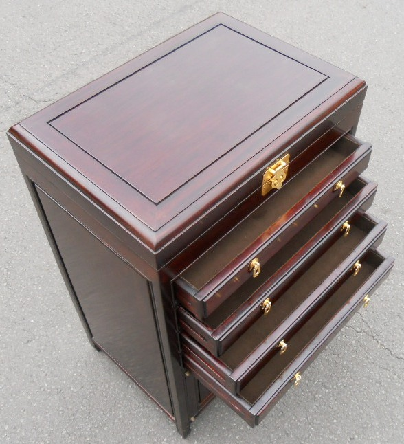 Sold Oriental Cutlery Cabinet Chest Of Drawers